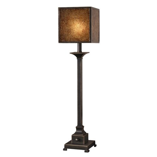 """Uttermost Meora 33"""" H Table Lamp with Square Shade"""