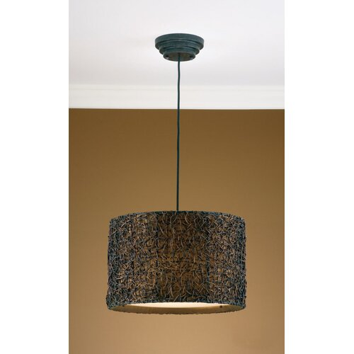 Uttermost 3 Light Naturals Hanging Drum Foyer Pendant