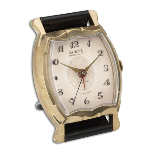 "Uttermost Wristwatch 3.5"" Grene Alarm Clock"