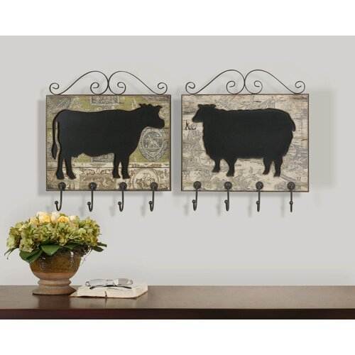 "Uttermost Farm Animal Plaques Wall Art by Billy Moon - 17.5"" X 16"""