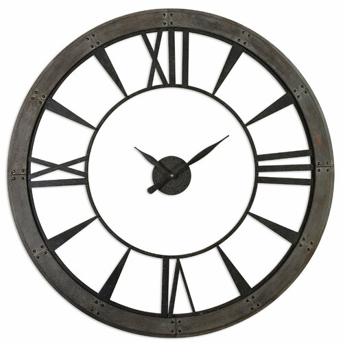 Ronan Oversized 60 Quot Wall Clock Wayfair