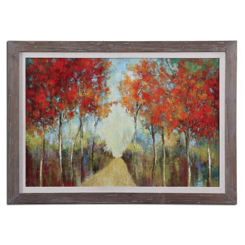 Nature's Walk Landscape by Grace Feyock Framed Original Painting