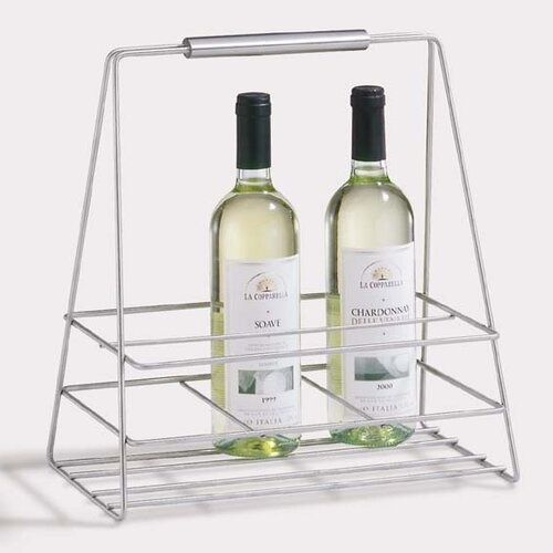 ZACK Bottiglia 6 Bottle Tabletop Wine Rack