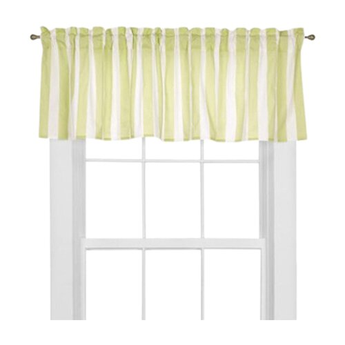"Bacati Flower Basket Rod Pocket Tailored 58"" Curtain Valance"