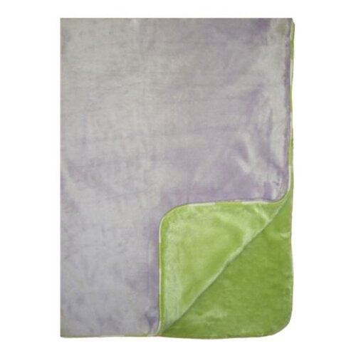 Flower Basket Two Layer Velor Plush Blanket