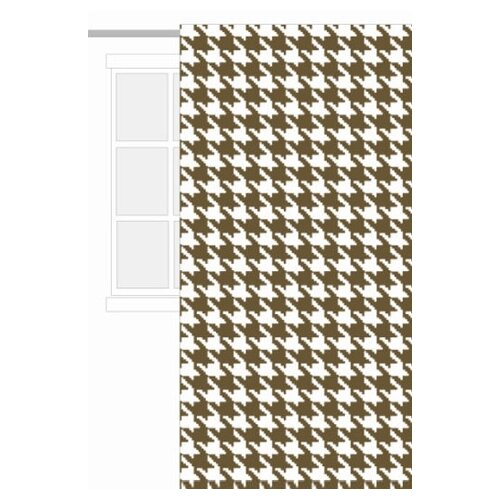 Bacati Metro Sateen Cotton Rod Pocket Curtain Single Panel
