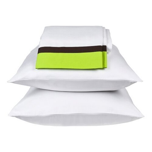 Bacati Valley of Flowers Standard Pillowcase