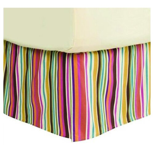 Dots and Stripes Spice Bed Skirt