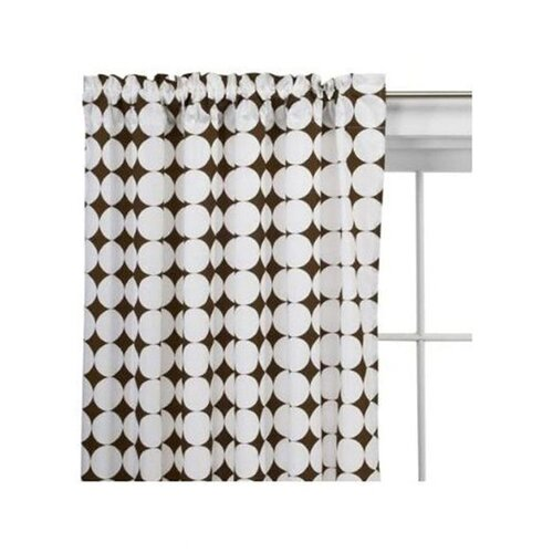 Bacati Reverse Dots Cotton Rod Pocket Curtain Single Panel