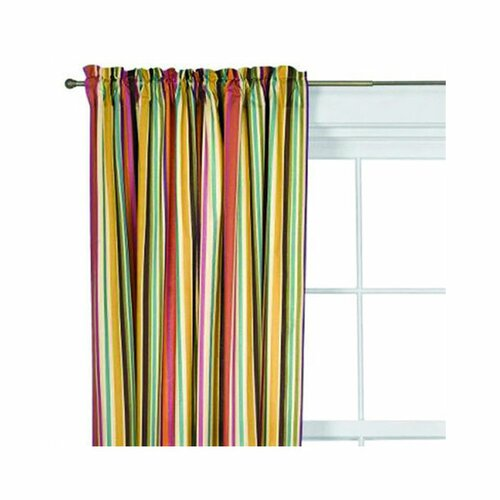 Bacati Dots and Stripes Spice Cotton Rod Pocket Curtain Single Panel