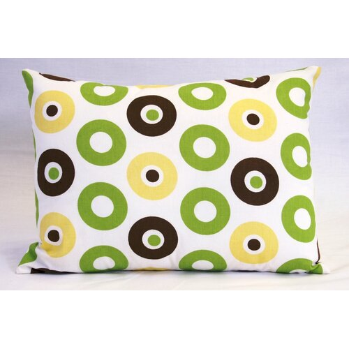 Mod Dots and Stripes Boudoir Pillow