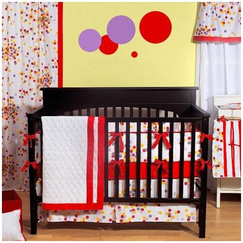 350 Thread Count Sateen Sprinkles 4 Piece Crib Bedding Set