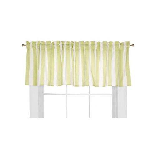 "Bacati Flower Basket Rod Pocket Tailored 60"" Curtain Valance"