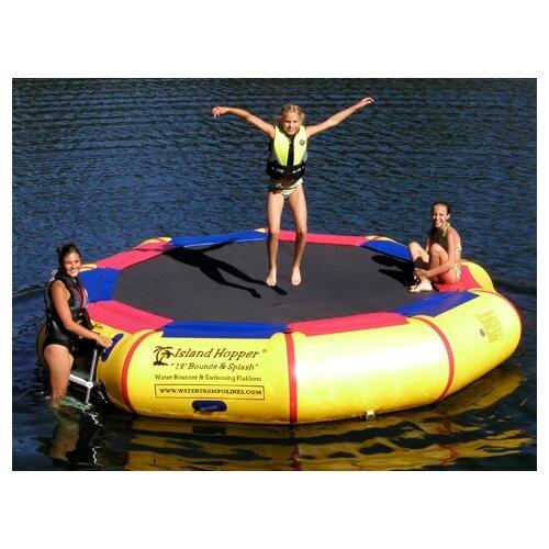 Island Hopper 13' Bounce and Splash Padded Water Bouncer