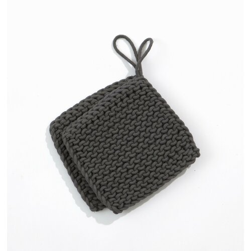 ferm LIVING Knitted Pot Holders in Charcoal
