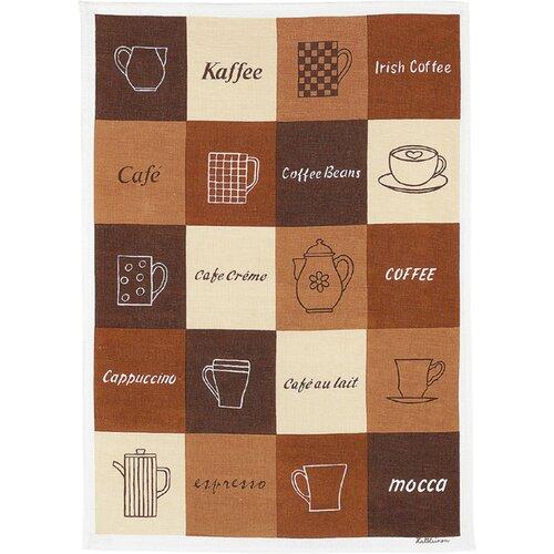 Kracht Geschirrtuch Kaffee aus Halbleinen