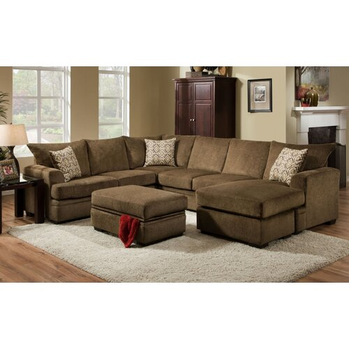 Cornell Cocoa Sofa Set The Furniture Shack: Cornell Sectional