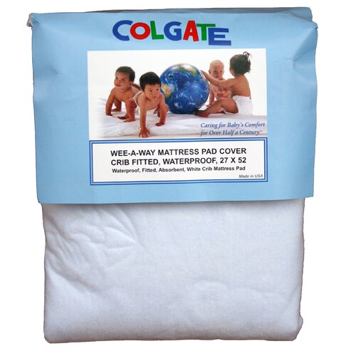 Wee-A-Way Waterproof Fitted Crib Mattress Cover