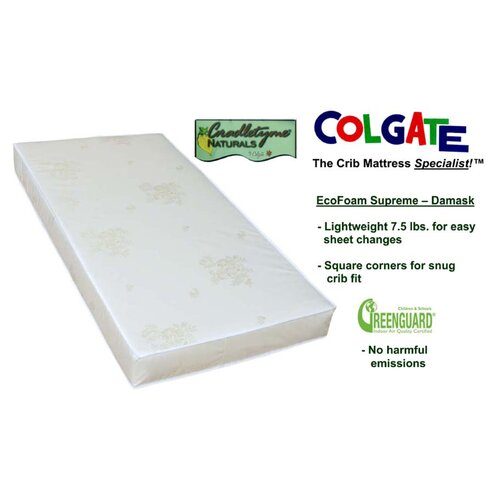 Colgate Cradletyme Naturals EcoFoam Supreme Damask Cloth Crib Mattress