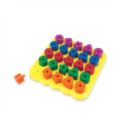 Learning Resources Stacking Shapes Peg Board 26 Piece Set
