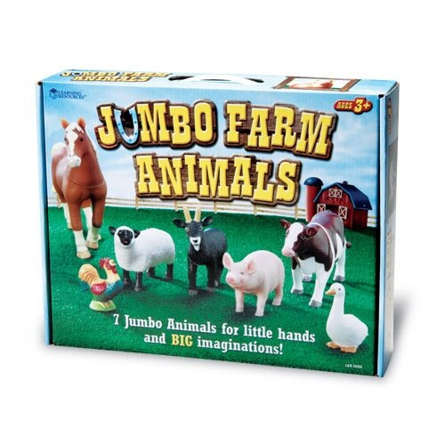 Learning Resources Jumbo Farm Animals 7 Piece Set