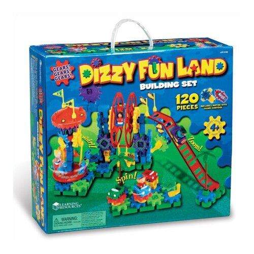 Learning Resources Gears! Gears! Gears!® Dizzy Fun Land 120 Piece Set