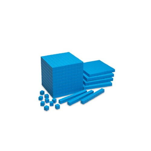 Learning Resources Base Ten Starter Set Plastic Blue