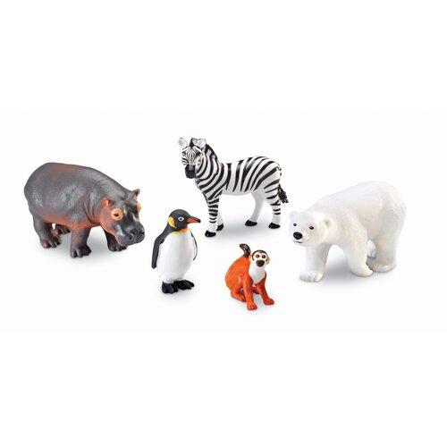 Learning Resources Jumbo Zoo Animal 5 Piece Set
