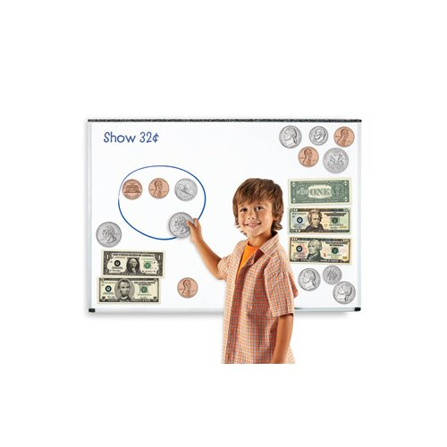 Learning Resources Double-Sided Magnetic Money 45 Piece Set