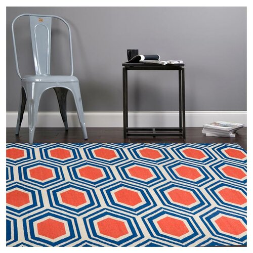 Jill Rosenwald Rugs Fallon Royal Blue Rug