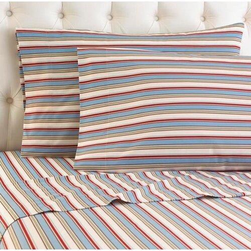 Micro Flannel® Awning Stripe Sheet Set