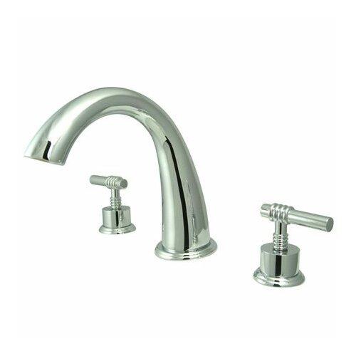 Elements of Design Double Handle Deck Mount Roman Tub Faucet Trim Magellen Lever Handle