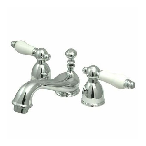 Elements of Design Mini Widespread Bathroom Faucet with Double Porcelain Lever Handles