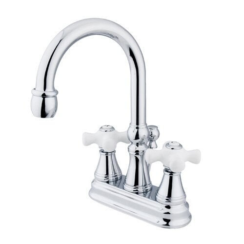Elements of Design Centerset Bathroom Faucet with Double Cross Handles