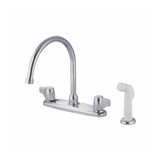 Elements of Design Double Handle Centerset Kitchen Faucet with Canopy Lever Handles