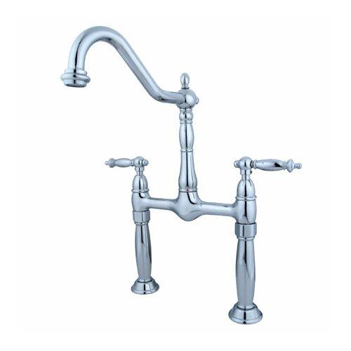 Elements of Design Widespread Vessel Sink Faucet with Double Metal Cross Handles