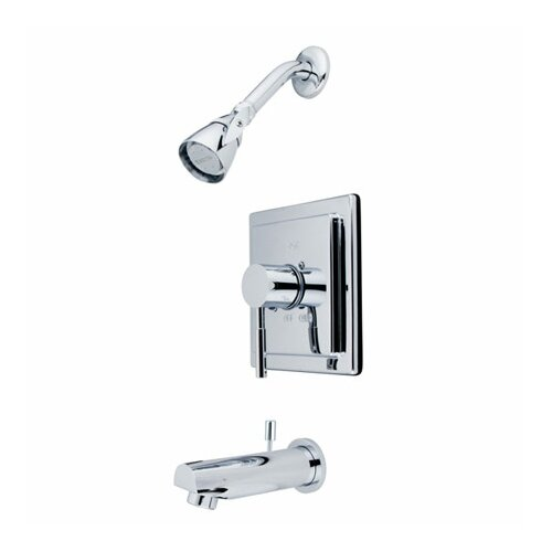 Elements of Design Pressure Balanced Volume Control Tub and Shower Faucet