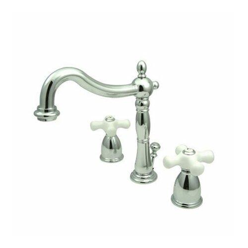 ... Mini Widespread Bathroom Faucet with Double Porcelain Cross Handles