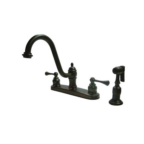 Elements of Design Vintage Centerset Kitchen Faucet with Buckingham Lever Handles