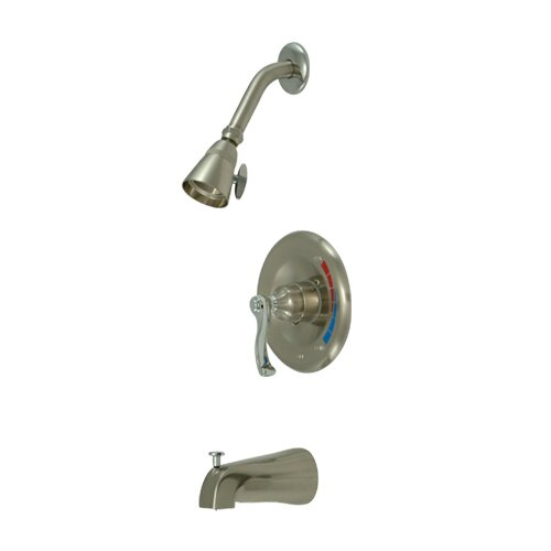 Elements of Design Royale Diverter Tub and Shower Faucet with French Lever Handles