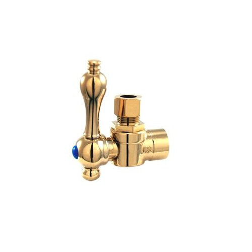 "Elements of Design 2.75"" Decorative Quarter Turn Valve with Lever Handle"