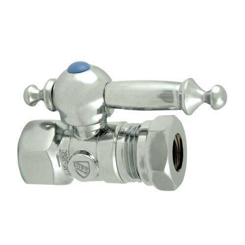 "Elements of Design 1.375"" Decorative Quarter Turn Valves with Templeton Lever Handle"