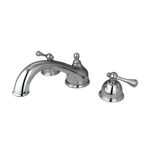 Elements of Design Double Handle Deck Mount Roman Tub Faucet Trim Buckingham Lever Handle