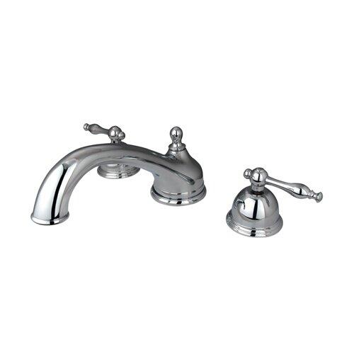 Elements of Design Chicago Double Handle Deck Mount Roman Tub Faucet
