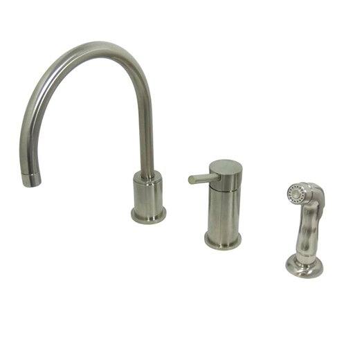 Widespread Kitchen Faucet with Metal Handle
