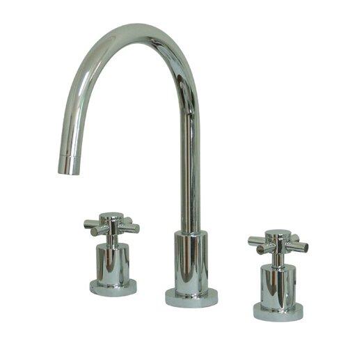 south beach double cross handle widespread kitchen faucet tec widespread kitchen faucet with side spray