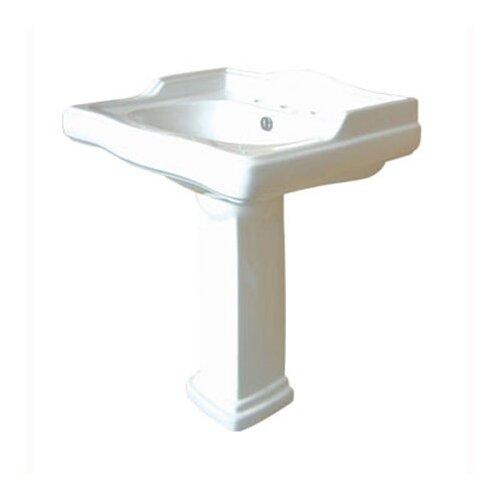Center Pedestal Bathroom Sink