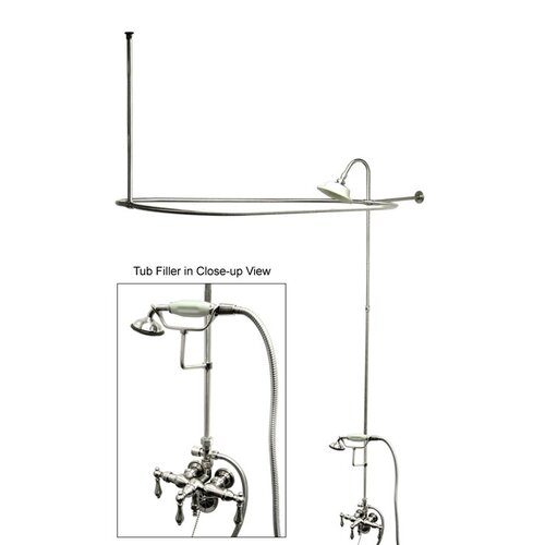 Elements of Design Vintage Shower and Tub Faucet with Metal Lever Handles