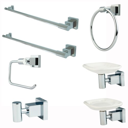 Elements of Design Claremont 7 Piece Bathroom Hardware Set