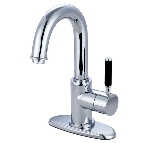 Elements of Design Kaiser Single Handle Single Hole Faucet Bathroom with Push-Up Drain